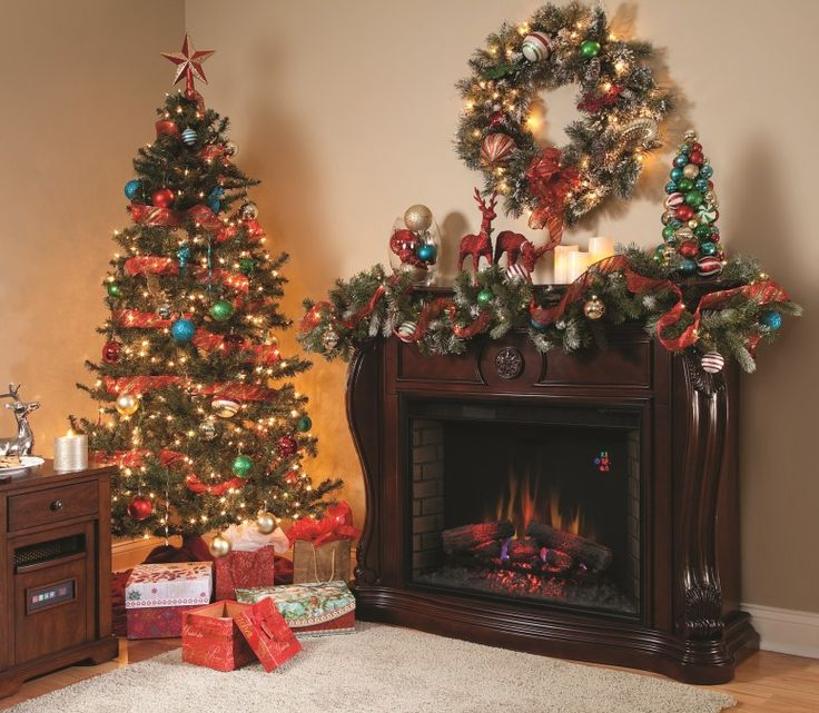 Decorate Home For Christmas 69 best christmas fireplace mantels images on pinterest