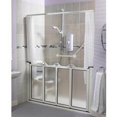 shower door open shower water containment pinterest doors