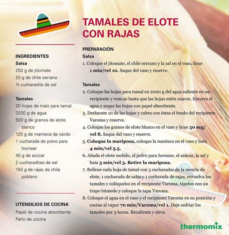 Tamales de elote con rajas