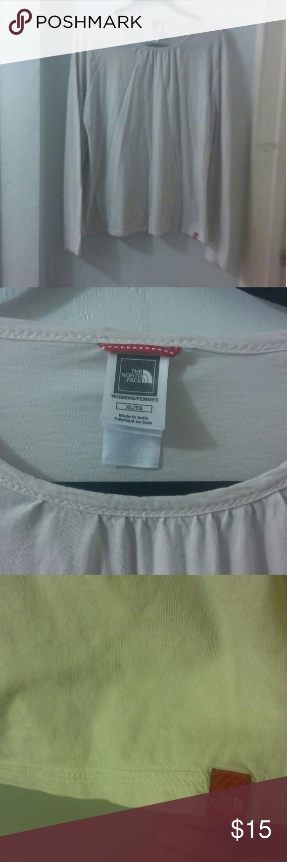 The North Face cream long sleeve top In used condition, great for working out. The North Face Tops Tees - Long Sleeve