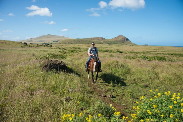 Horseback riding in the Easter Island wilderness. Please like and share!