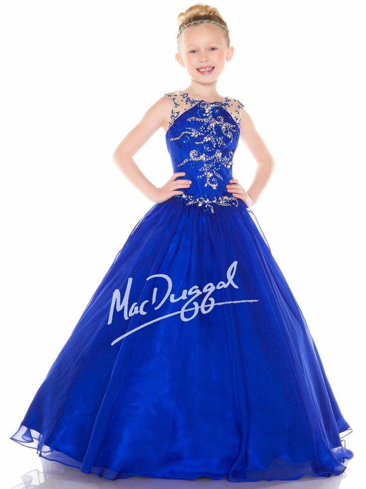 Sugar Pageant Dress for Girls Style 82215s Size 6 in Royal/Nude or White/Silver. An adorable and sure-to-win-in gown! #sugarpageantdress #sugar #royaldress #pageant #orlandopageantstore