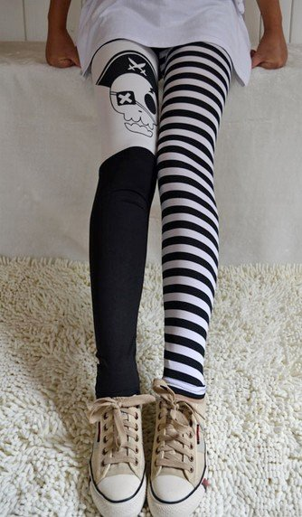 Skull Print Fashion Legging $6.6 wholesale - www.tidequeen.com
