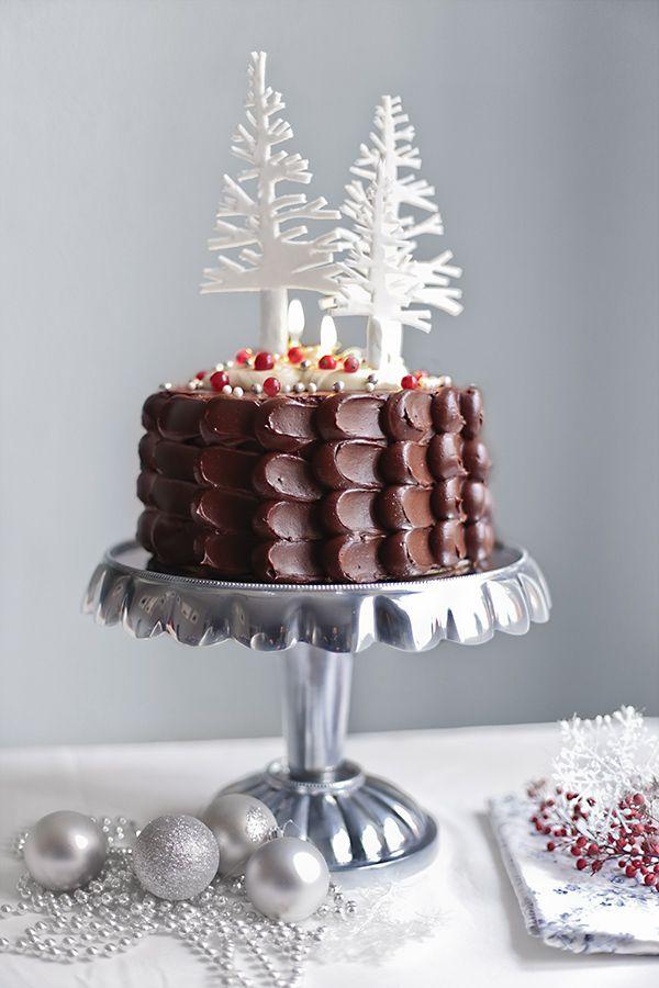 Tarta de chocolate para Navidad