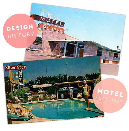 The Motel Postcard: A Window to the 1950's Road Trip so many ideas from the past to present