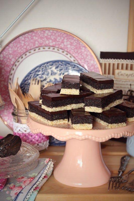 Csokis mákos szelet