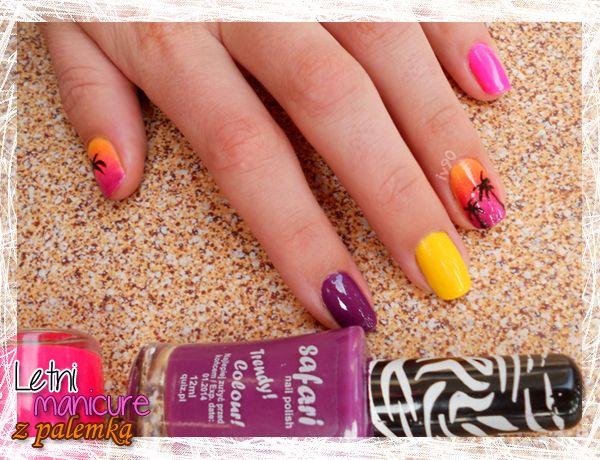 Inspiracją dla tych paznokci był zachód słońca na egzotycznej plaży.