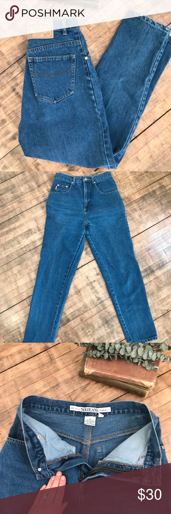 Absolutely No Jeans hi rise mom jeans Absolutely no jeans hi rise mom jeans! so high wasted!  size 10, model is a size 2/4 and they fit large. best would fit 6 or an 8 or please refer to measurements!  condition: used, no flaws to note!  measurements:  waist: 15 in  rise: 12 in  inseam: 28 in  hips: 19 in  thigh: 9 in Vintage Jeans Skinny