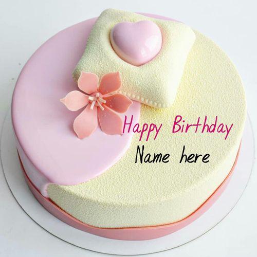 Write name on birthday cake for mummy, Beautiful birthday cake with