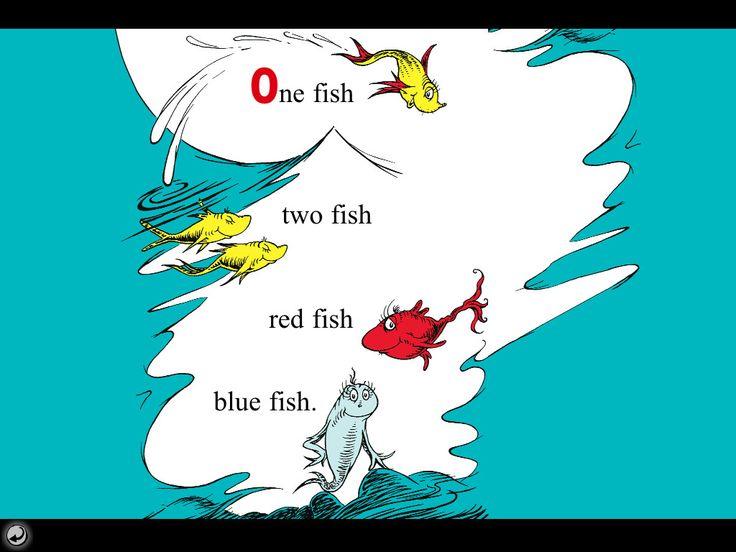 iphone ipad ios app one fish two fish red fish blue fish dr seuss apps are on sale for a limited tim - One Fish Two Fish Red Fish Blue Fish Coloring Pages