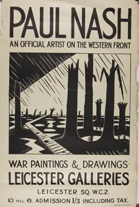Paul Nash- Original EPoster for the Exhibition:Void of War held at The Leicester Galleries in May 1918. Ernest Brown & Phillips