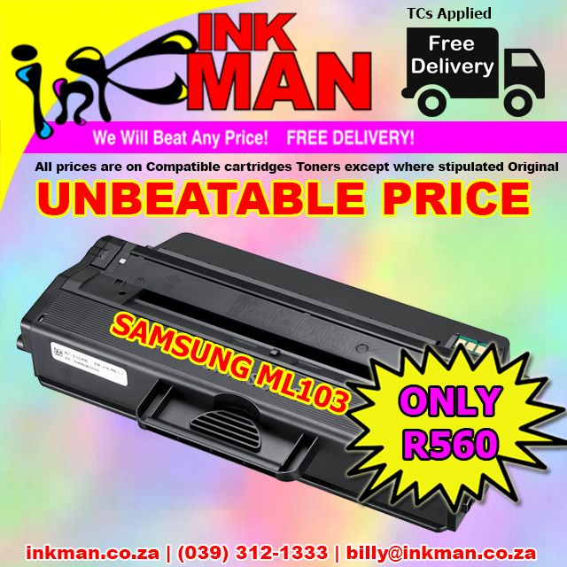 #Samsung ML103 #Toner #UNBEATABLE #PRICE! ONLY R560 #INKman #Margate #Print http://bit.ly/1YYpQSv