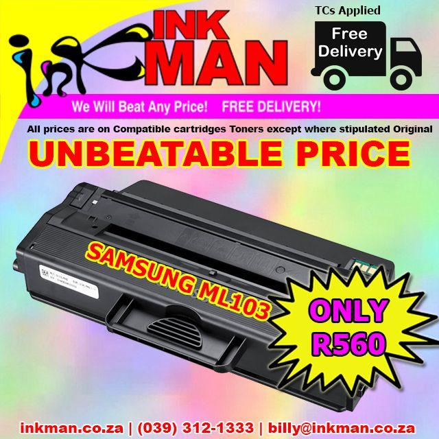 #Samsung ML103 #Toner #UNBEATABLE #PRICE! ONLY R560 #INKman #Margate #Print http://bit.ly/1YYpQSv