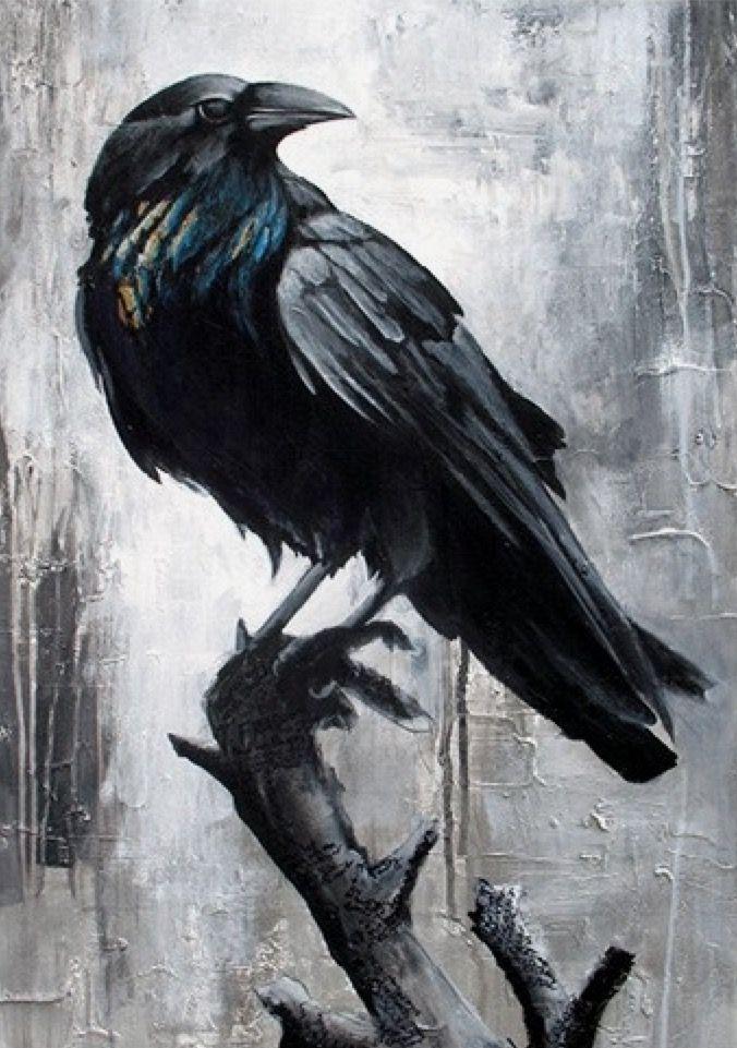 Пасхой, картинки с воронами нарисованные