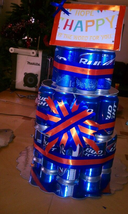 My Fiances His Dads Birthday Cake I Made Beer Cake Florida