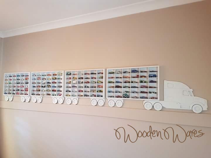 Matchbox, Hot Wheels model car storage. Designed in Brisbane Australia by WoodenWares MDF Craft Wood
