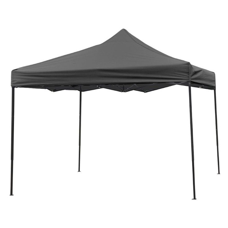 Trademark Innovations Lightweight and Portable Canopy Tent Set - 10 x 10 ft Black - 10FTCAN-BLACK