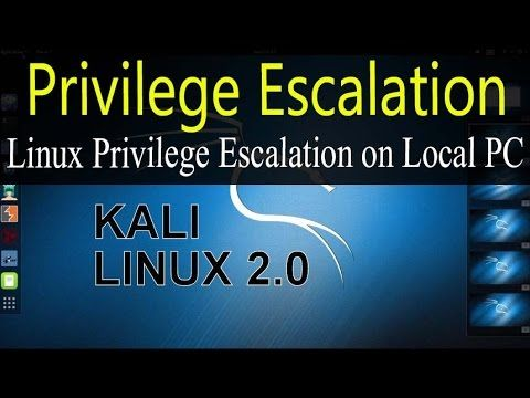 Linux Privilege Escalation on Local PC Ubuntu 15.04