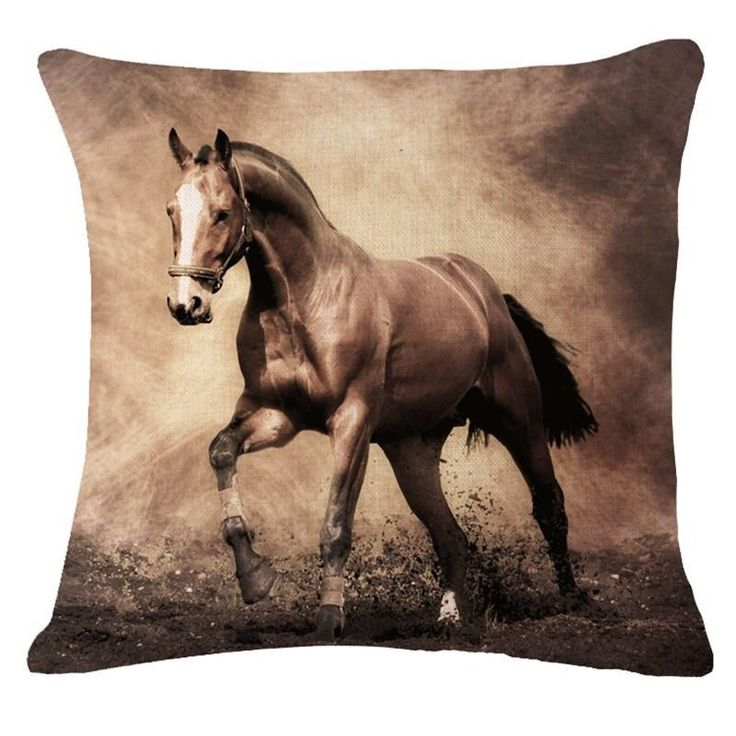 Decorative pillow cover with lovely horse print #Bont #AnimalPrint