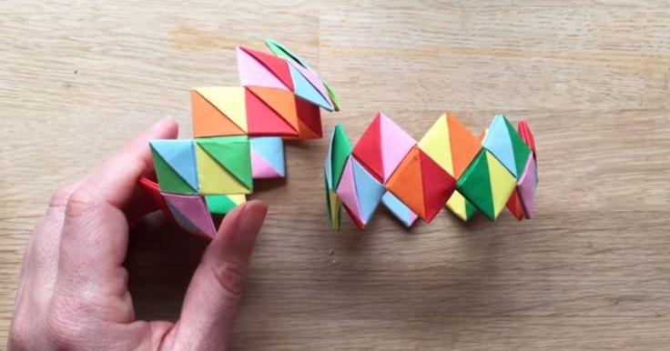 Krásně barevné náramky z papíru – videonávod