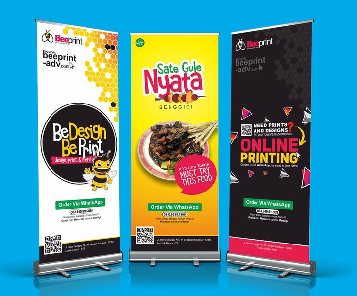 Roll Up Banner Bee Print