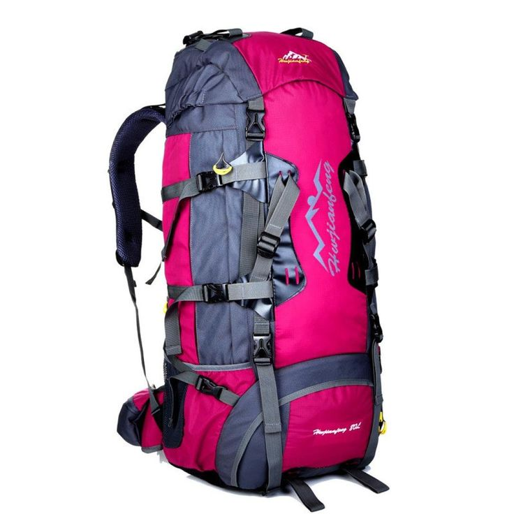 Egmy® Hot! 2016 New 80L Waterproof Sports Tactical Camping Hiking Backpack Luggage Rucksack Bag (Hot Pink). 1. High performance multi-purpose bag, 80L large capacity. 2. Perfect as a tactical assault pack, a hunting backpack, or an emergency go-bag. 3. Various compartments provide a wide range of storage options. 4. Each pocket is sized for a specific use. 5. Offer external compression straps, adjustable shoulder straps, and a centered sternum strap to ensure stability.