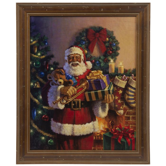 Get African American Santa With Gifts Wood Wall Decor Online Or Find Other Wall Decor Products From Hobbylobby Com Wood Wall Decor Wall Decor Online Wall Decor