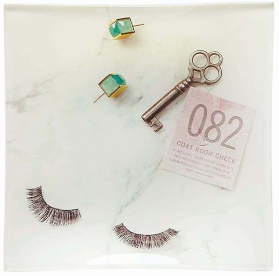kate spade new york - Eyelashes/Key Square Glass Tray