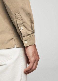 Corduroy katoenen slim-fit overhemd