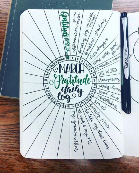 Ein Dankbarkeitsprotokoll für Ihre tägliche Dankbarkeitspraxis 9 Selbstpflege-Bujo-Seiten zum Hinzufügen …   – Gratitude journal