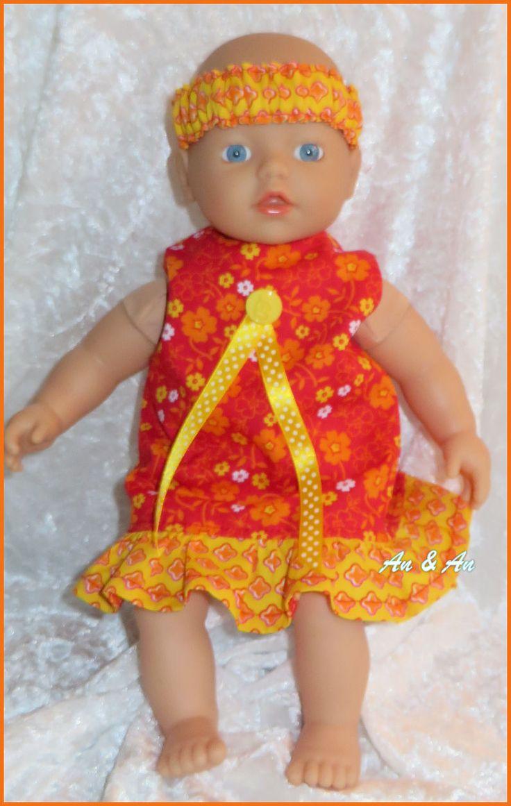 Zomerjurk voor little baby born www.poppenmode.com