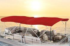 Red double Bimini top