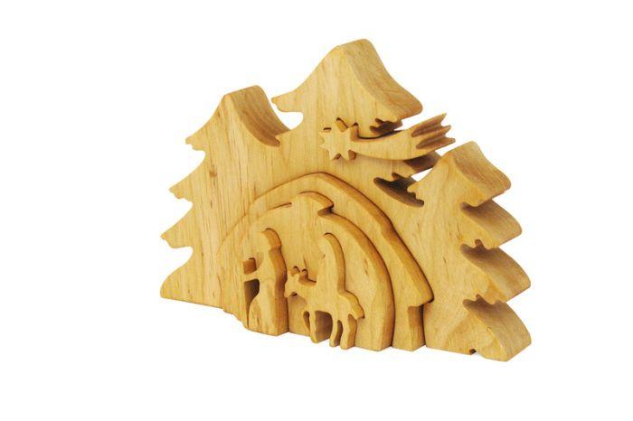 Wooden Christmas crib / Szopka świąteczna