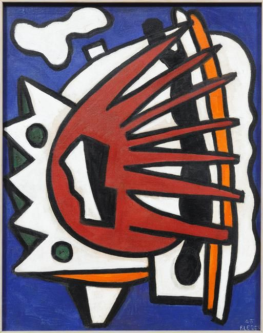 Composition for a Mural, 1945 - Fernand Leger - WikiArt ...