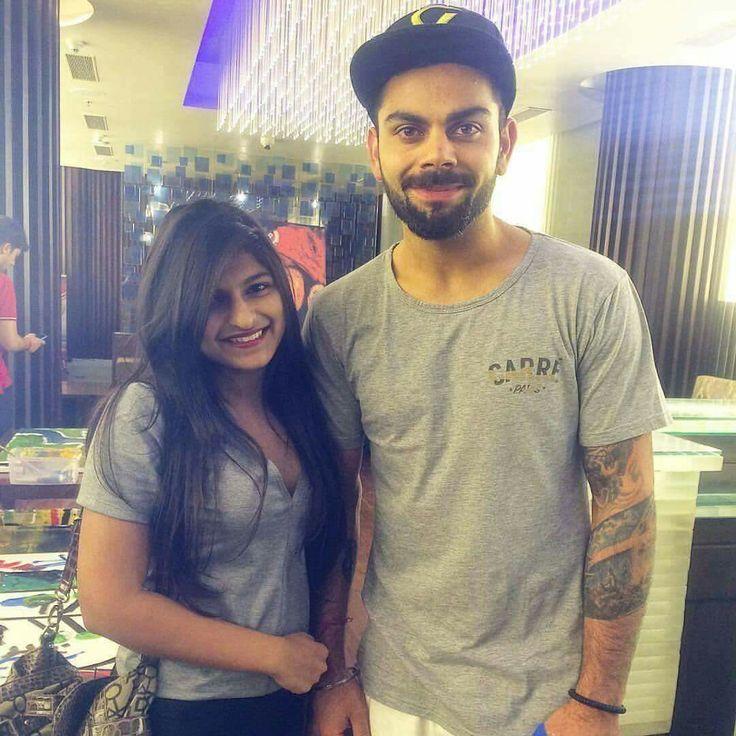 Virat kohli with his fan