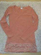 Vero Moda Shirt mit Spitze / Spitzenshirt, Gr. L (40/42), dunkles koralle, toll!