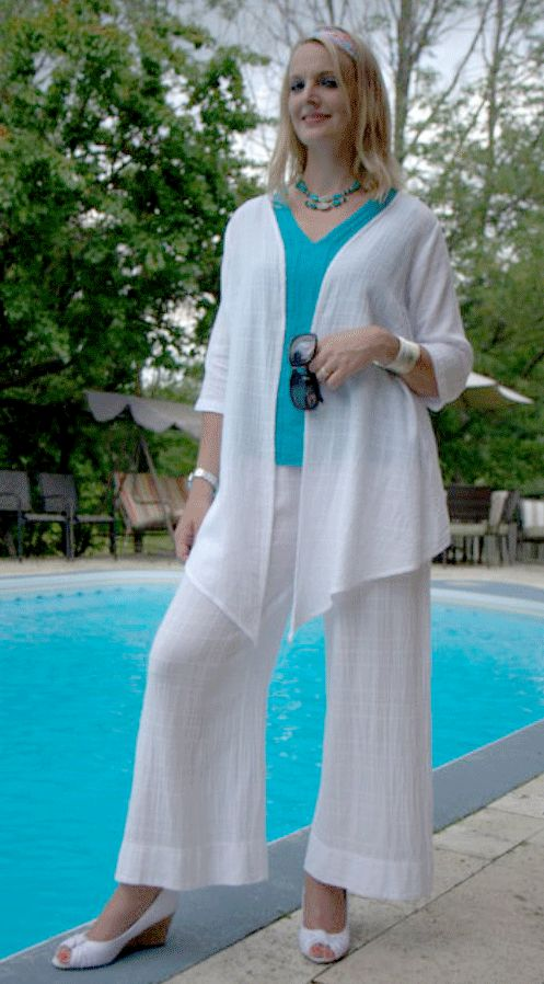Soft light-weigh 100% cotton jacket and pant, perfect for summer by Ezze Wear