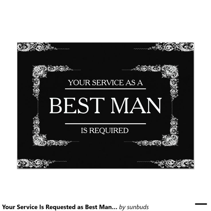 Groomsman Invitation Cards with perfect invitation design