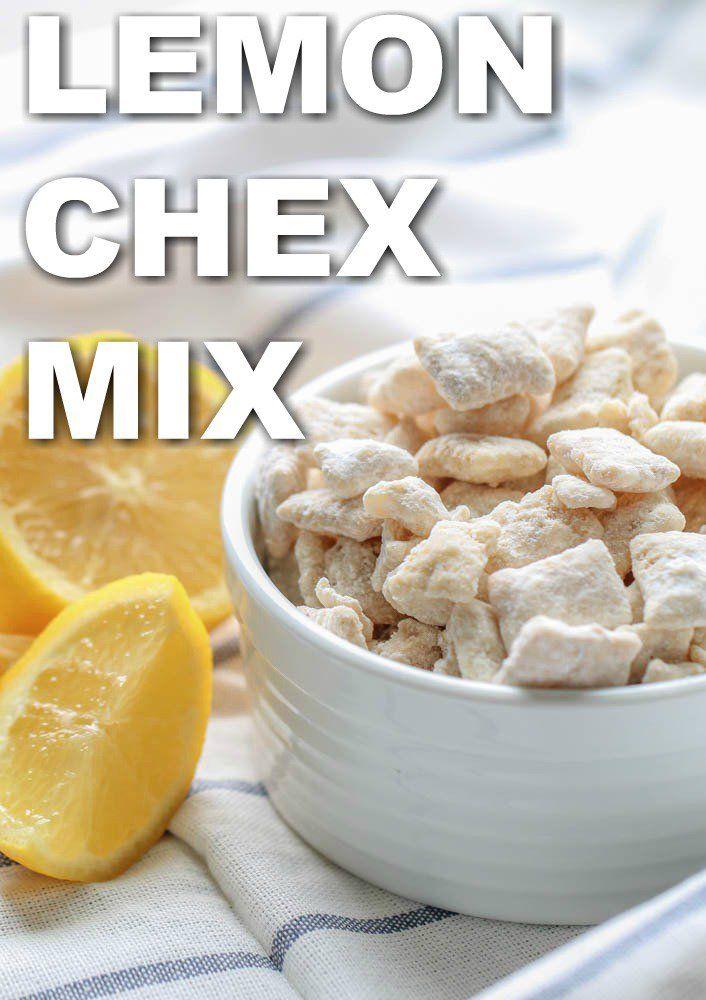 Lemon Chex Mix Recipe With Images Lemon Chex Mix Lemon Snack Chex Mix Recipes