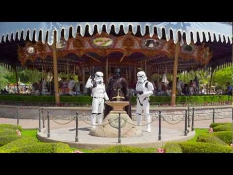 Darth Vader goes to Disneyland | Star Tours | Star Wars - YouTube