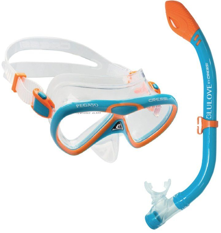 Cressi Kids' Pegaso Mask and Iguana Snorkel Set 8152323
