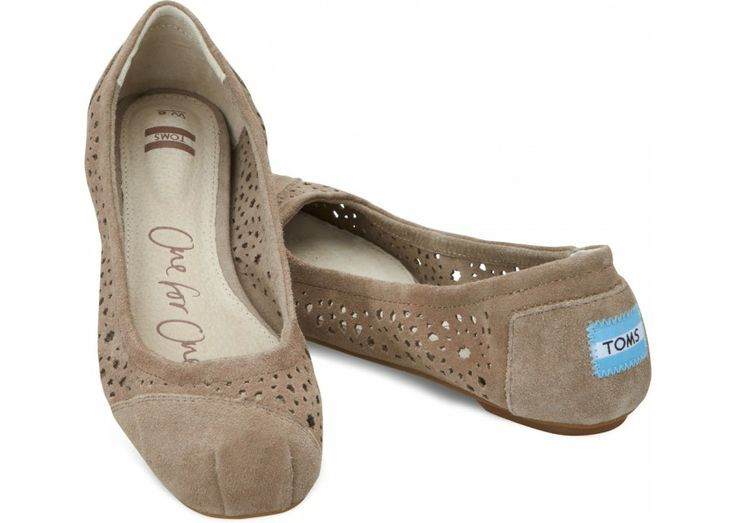 LOVE my comfy Toms!  This may have to be the next pair introduced to my tootsies!  --Taupe Moroccan Cutout Women's Ballet Flats hero
