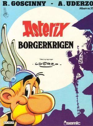 """Asterix - borgerkrigen ; Asterix' odysse ; Asterix & Sønn ; Asterix og det flygende teppet"" av Albert Uderzo"