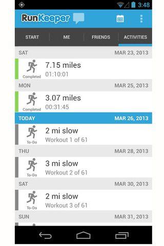 Glamour App Store. Runkeeper  Tendrás un entrenador personal en el bolsillo con esta aplicación gratuita (para iOs y Android) que ya usan más de 14 millones de corredores aficionados para mejorar la calidad de sus entrenamientos gracias al registro detallado del ritmo, la distancia y el tiempo empleado.