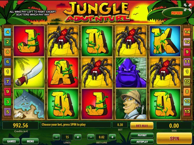 Jungle Adventure - http://jocuri-pacanele.com/joaca-gratis-pacanele-jungle-adventure-online/