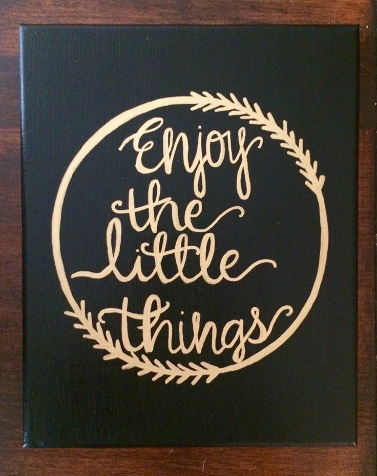 Enjoy The Little Things - Sorority Canvas - Big and Little - Canvas Quote Painting - Home Decor - Wall Art by HolyCityHailey on Etsy
