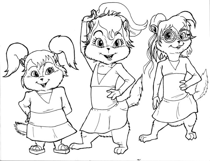 chipettes coloring pages to print - 63 best images about alvin and the chipmunks on pinterest