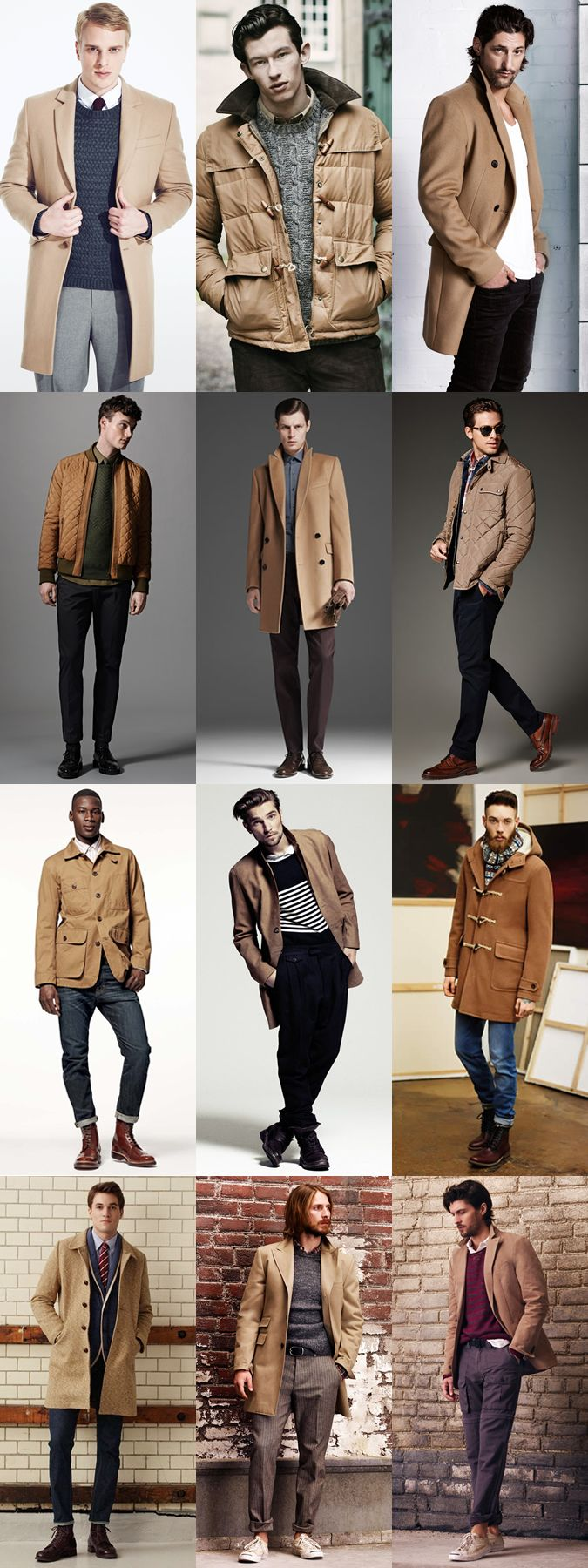 Men's Camel Outerwear Lookbook Outfit Inspiration