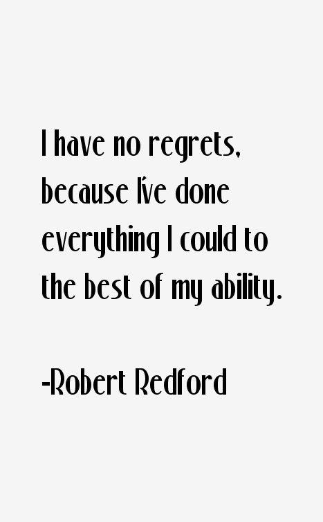 Robert Redford Quotes