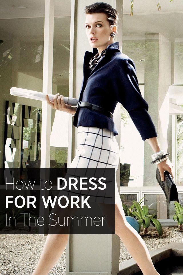 Met deze tips weet jij ook hoe je je in de zomer passend kleedt op kantoor. #office #summer #fashion